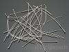 デザインピン(丸) 0.6×70mm (ロジウムカラー) ×5g