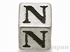 アルファベットパーツ【N】キューブ6mm
