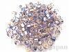 3276 4mm特大ロココカラービーズ ×10g【ブルー/ラベンダー銀引】