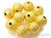10mm スターダスト銅玉ビーズ(ゴールドカラー) ×10個