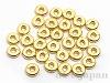 アメリカ製メタルリング 4mm (ゴールドカラー) ×30個
