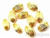 12×7mm シボリ玉 (ゴールドカラー) ×10個