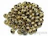 10×7mm 樹脂ビーズ(アンティークゴールド) ×20g