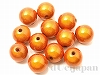 12mm 樹脂ビーズ(クリスタルオレンジ) ×10g