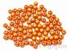 6mm 樹脂ビーズ (クリスタルオレンジ) ×10g
