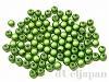 6mm 樹脂ビーズ (クリスタルグリーン) ×10g