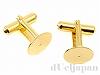 12mm皿付カフスボタン (ゴールドカラー) ×1ペア(2個)