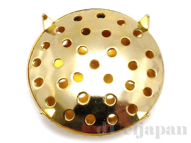 19mmシャワー台付タックピン 16mm (ゴールドカラー)