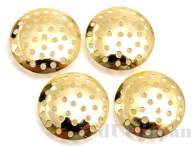 20mmシャワー皿 (ゴールドカラー) ×4個