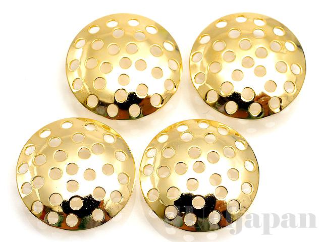 15mmシャワー皿 (ゴールドカラー) ×4個