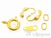 ネックレス用金具セット 引き輪7mm (マットゴールドカラー)