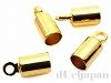 カツラ 内径約3.4mm (ゴールドカラー) ×4個