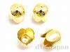 花キャップ(カツラ) 内径9.5mm (ゴールドカラー) ×4個