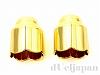 花キャップ(カツラ) 内径10mm (ゴールドカラー) ×2個