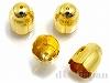 花キャップ(カツラ) 内径8mm (ゴールドカラー) ×4個