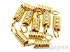 コードエンド 内径2.2mm (ゴールドカラー) ×10個