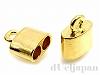 内径3.3mm 2連エンドパーツ10×9mm(ゴールドカラー) ×2個