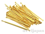 Tピン 0.7×30×2mm (ゴールドカラー) ×5g