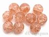 3 8mm 丸玉クラックチェコビーズ(ピンク) ×10個