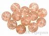 3 6mm 丸玉クラックチェコビーズ(ピンク) ×20個