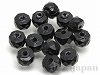 15 6×4mmプレクシカットビーズ(ボタン) ×14個【黒】