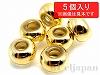 50 9×6mmプレクシカットビーズ ×5個【ゴールド】