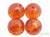 キュービックジルコニア8mm(丸玉カット/オレンジ)×4個