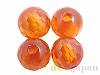 キュービックジルコニア4mm(丸玉カット/オレンジ)×4個