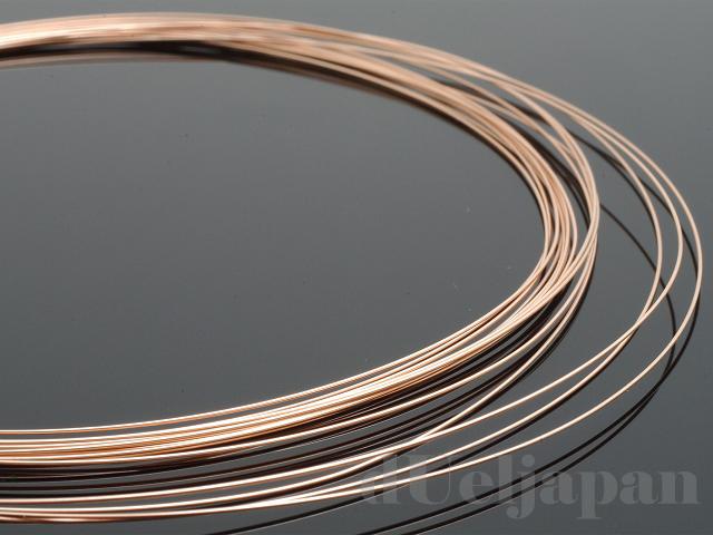 10金ピンクゴールド ナマシ線 0.4mm ×100cm K10PG(ピンクゴールド)