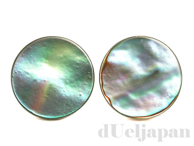 アバロンシェル12mm(コイン/穴なし) ×2個