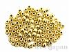 穴径0.6mm肉厚つぶし玉(ゴールドカラー) ×約100個 日本製