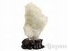天然水晶 原石16×26cm(菊花水晶/木製台座付)