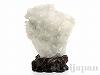 天然水晶 原石22×23cm(菊花水晶/木製台座付)