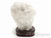 天然水晶 原石15×20cm(ポイント水晶/木製台座付き)