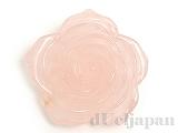 35〜42mm バラ彫りペンダント ローズクォーツ ×1個