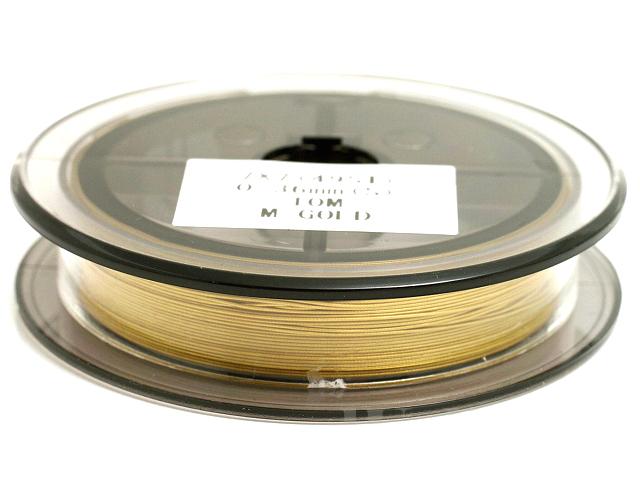 0.36mm ×10m スーパーフレックスワイヤー(メタリックゴールド/49本ヨリ線) 日本製