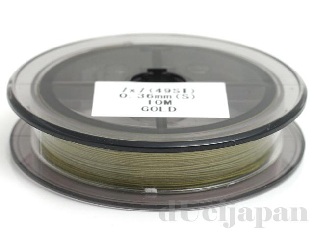 0.36mm ×10m スーパーフレックスワイヤー(ゴールド/49本ヨリ線) 日本製