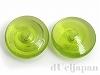 日本製ガラスビーズ13mm(グリーン) 2個