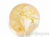 龍彫り水晶10mm(丸玉/ゴールド)