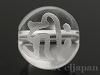 梵字天然水晶10mm(丸玉/キリーク/素彫り)