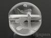 梵字天然水晶10mm(丸玉/マン/素彫り)