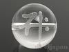 梵字天然水晶16mm(丸玉/サク/素彫り)