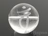 梵字天然水晶18mm(丸玉/バン/素彫り)