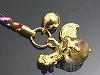 天然水晶十二支ストラップ9cm【とり/酉】〔根付紐〕(ゴールドメッキ)