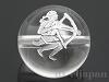 天然水晶・12星座【いて座/射手座】12mm(丸玉/シルバー)