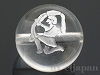 天然水晶・12星座【みずがめ座/水瓶座】12mm(丸玉/シルバー)