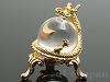 龍と水晶の置物45×7mm(台座付き/ゴールドカラー)
