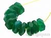 グリーンアゲート6.5〜7mm(ボタンカット) 10個