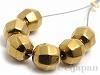 磁気ヘマタイト6mm(丸玉カット/ゴールド)6個