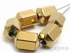 磁気ヘマタイト5×8mm(18面体/ゴールド)6個